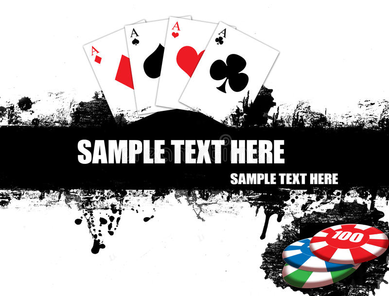 Playing cards poster stock illustration