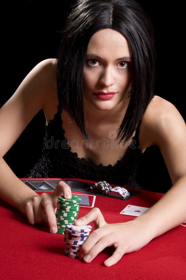 Download Playing cards red stock photo. Image of card, pretty, brunette - 6161898