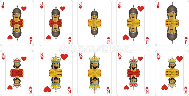 Playing cards for rummy and Cassino. Cards for playing for fun and gambling royalty free illustration