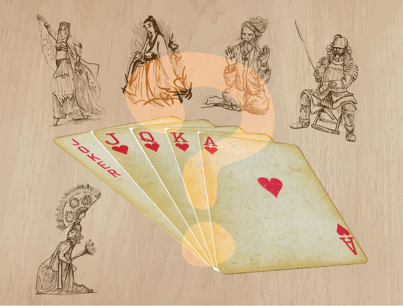 Playing cards - straight vector illustration
