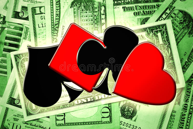 Download Playing Cards Suits And Money Stock Images - Image: 18054364