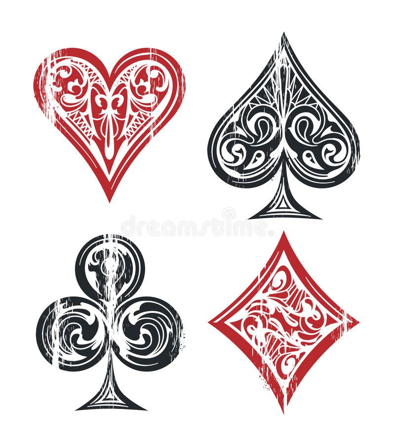 Playing Cards Symbols Stock Vector Illustration Of Heart 87844555