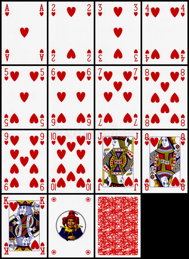 Free Playing Cards - The Hearts Suit Royalty Free Stock Images - 14025599