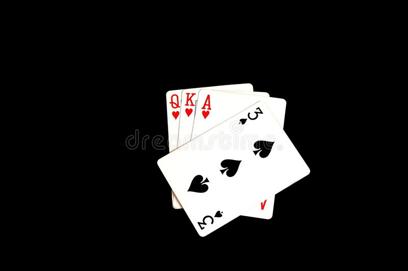 Playing cards - a trump card played royalty free stock photos