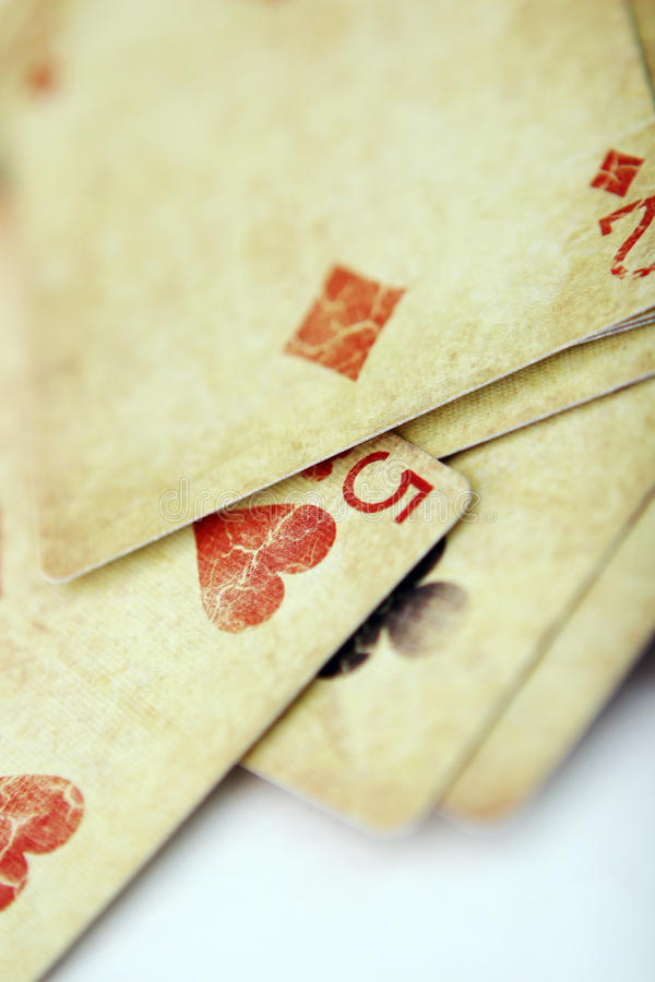 Download Playing Cards In The White Table Stock Photo - Image: 14850144