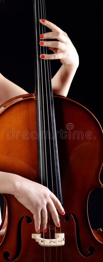 Playing cello stock photography