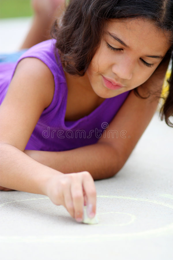 Download Playing With Chalk stock photo. Image of chalk, person - 6414518
