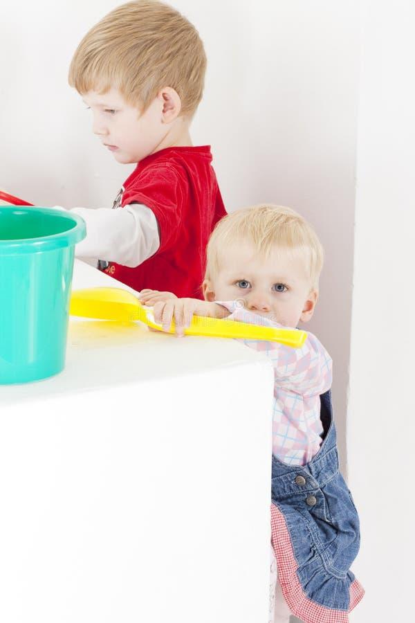 Playing children stock image