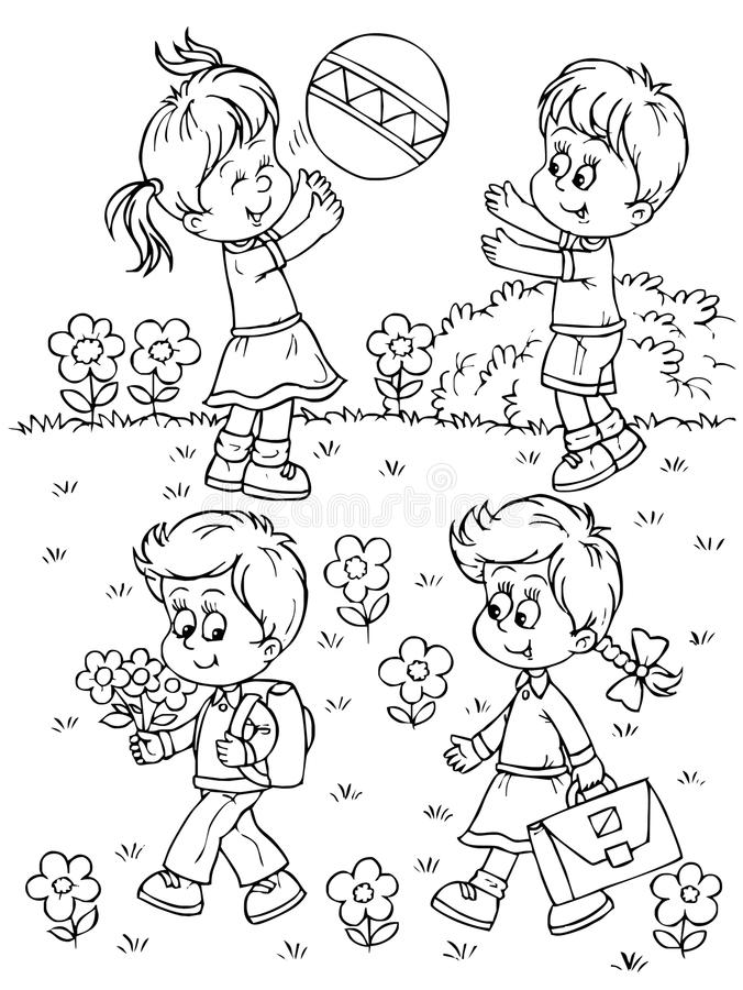 Download Playing children stock illustration. Illustration of coloring - 14979046