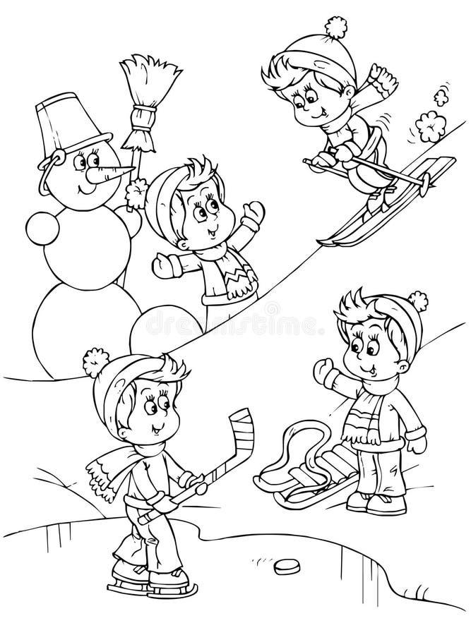Playing children royalty free illustration