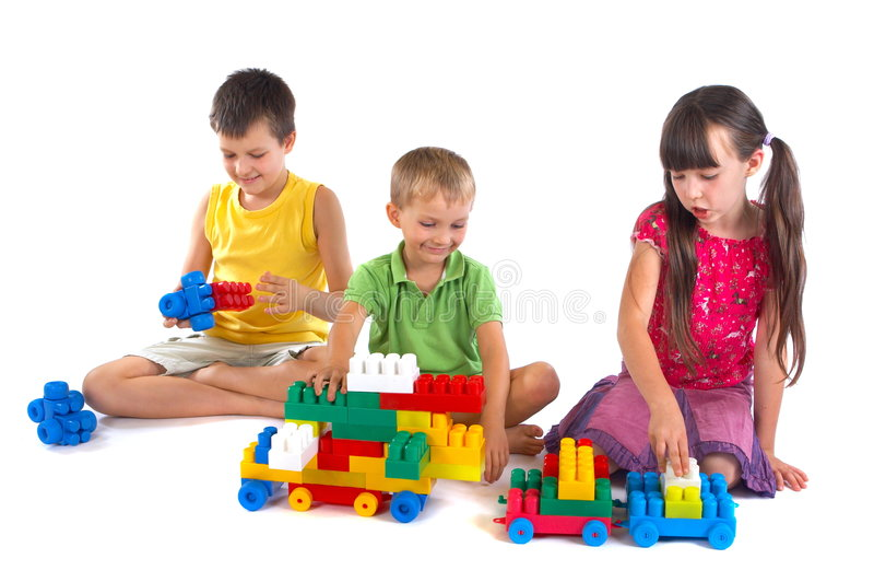 Playing children royalty free stock photo