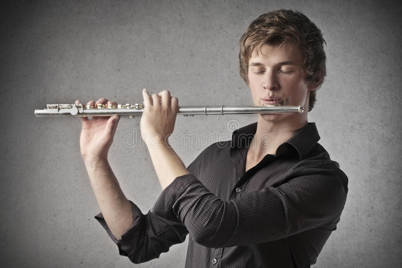 Download Playing the Clarinet stock image. Image of song, young - 28782035