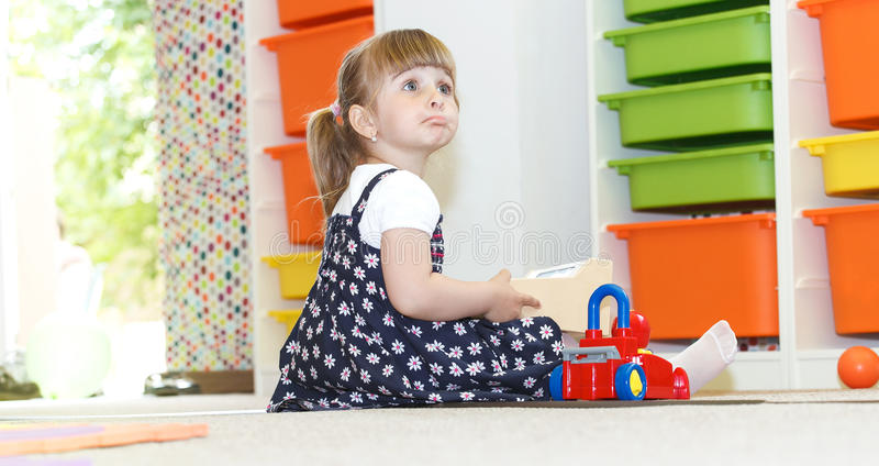 Playing at the daycare stock photo