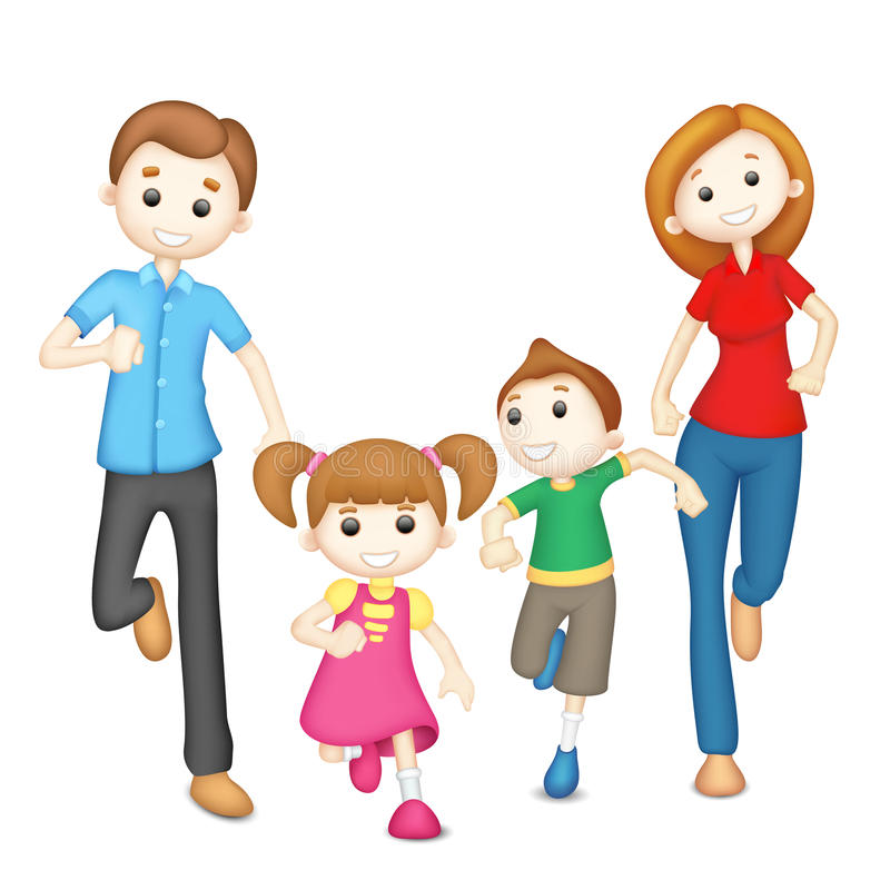 Download Playing Family stock illustration. Image of girl, male - 25231893
