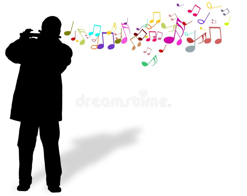Playing Flute stock photography