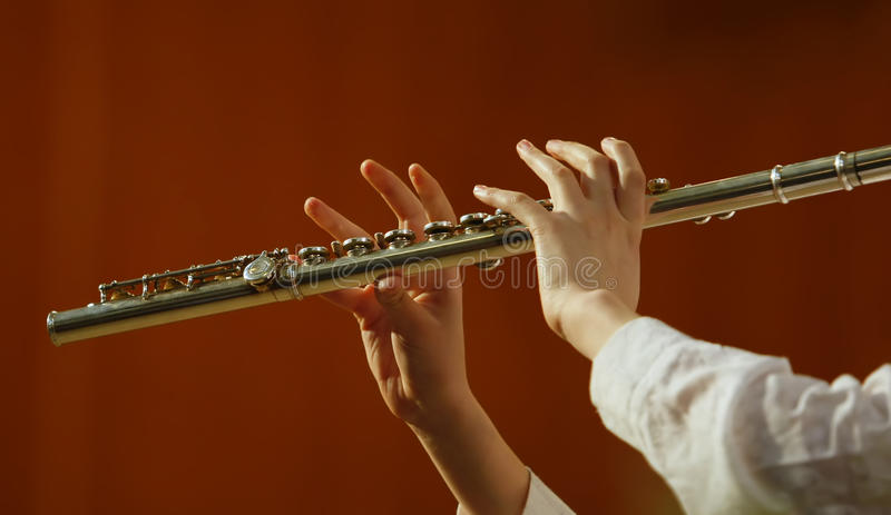 Playing the flute