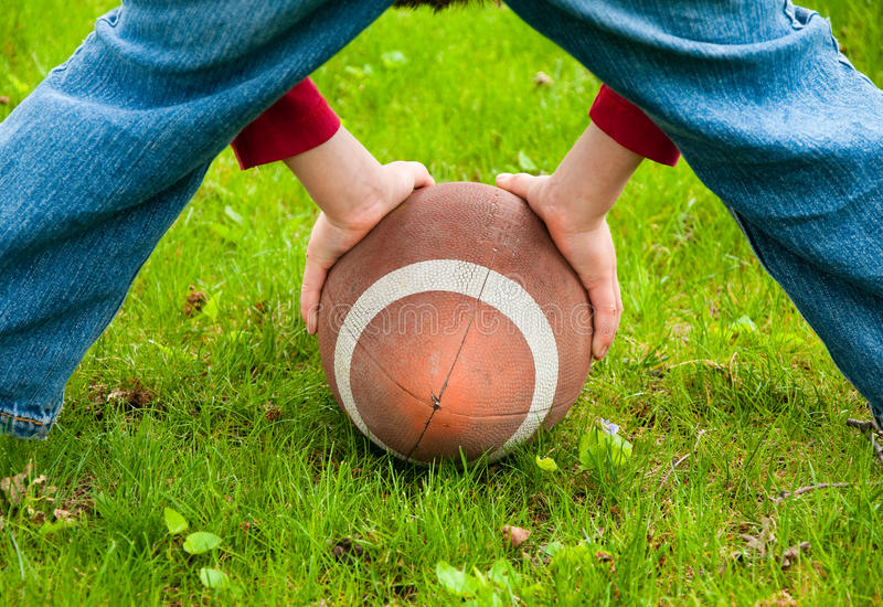 Download Playing football stock image. Image of quarterback, child - 14126385