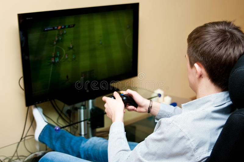 Playing game royalty free stock photography
