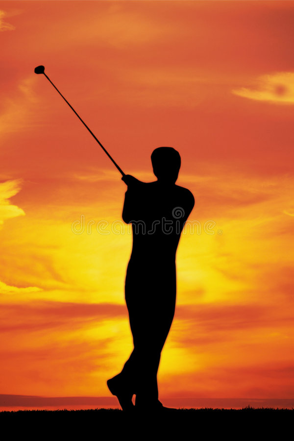 Free Playing Golf At Dawn Stock Photography - 1130612
