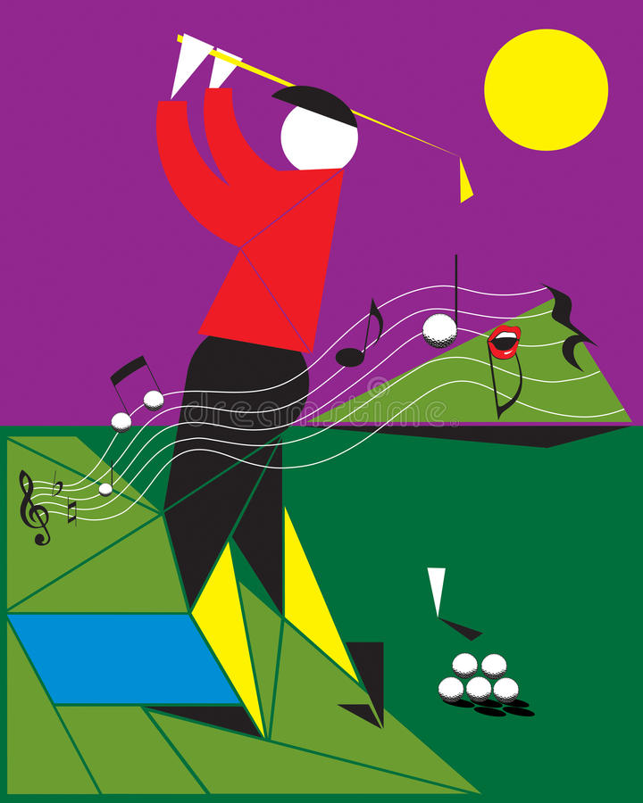 Download Playing golf like a melody stock vector. Illustration of waving - 22091625