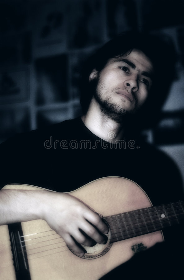 Download Playing guitar stock image. Image of play, chords, music - 80621