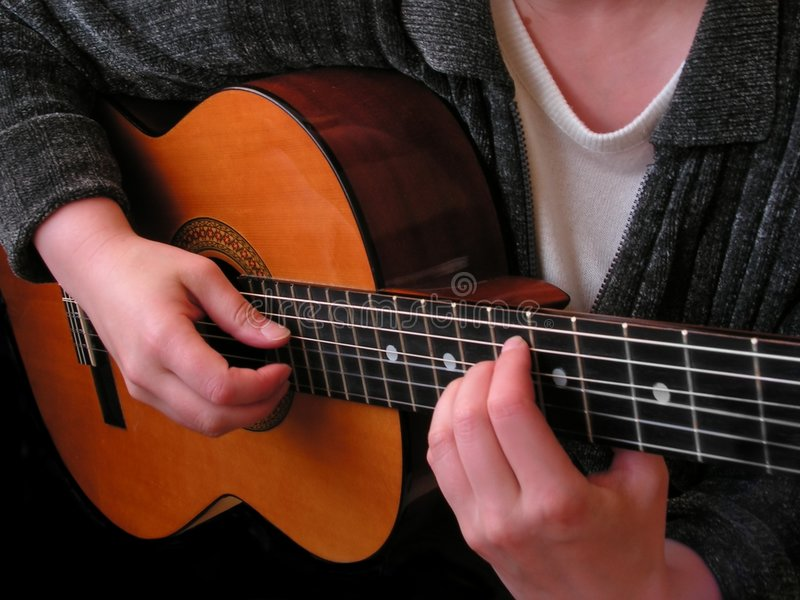 Download Playing guitar stock image. Image of audio, musician, pick - 890429