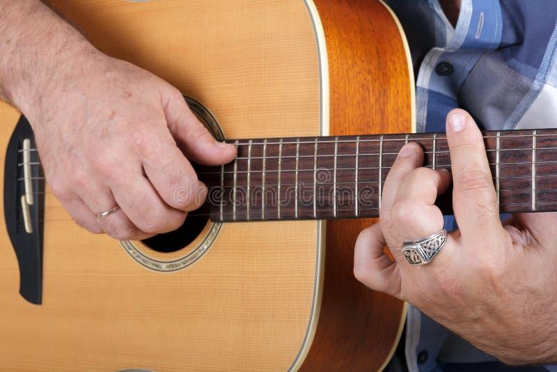 Playing Guitar Stock Image Image Of Hands Closeup Rock 43642601