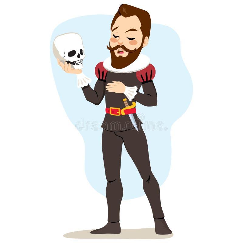 Playing Hamlet royalty free illustration