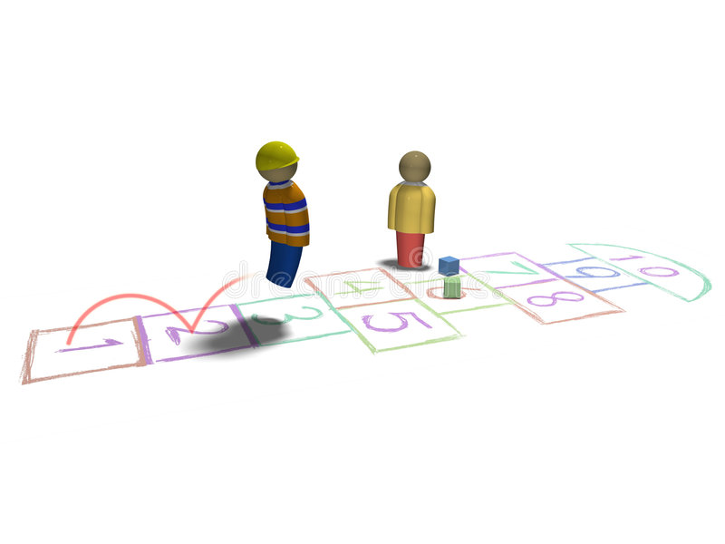 Download Playing hopscotch stock illustration. Image of funny, active - 5906373