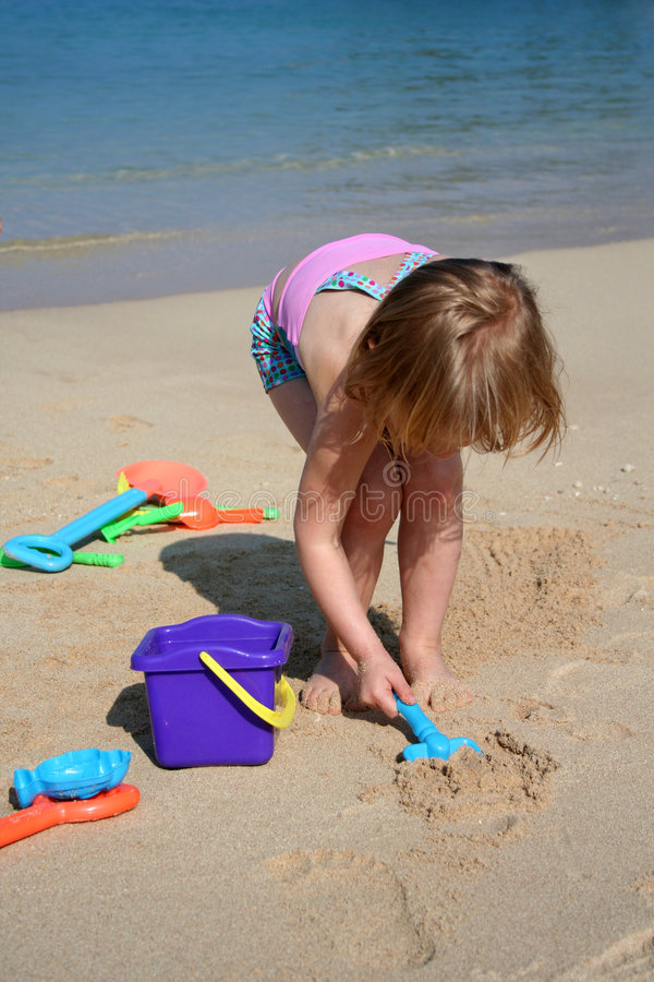Free Playing In The Sand Royalty Free Stock Photo - 5122895