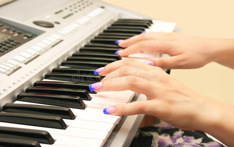 Download Playing keyboard stock photo. Image of harmony, classical - 14066234