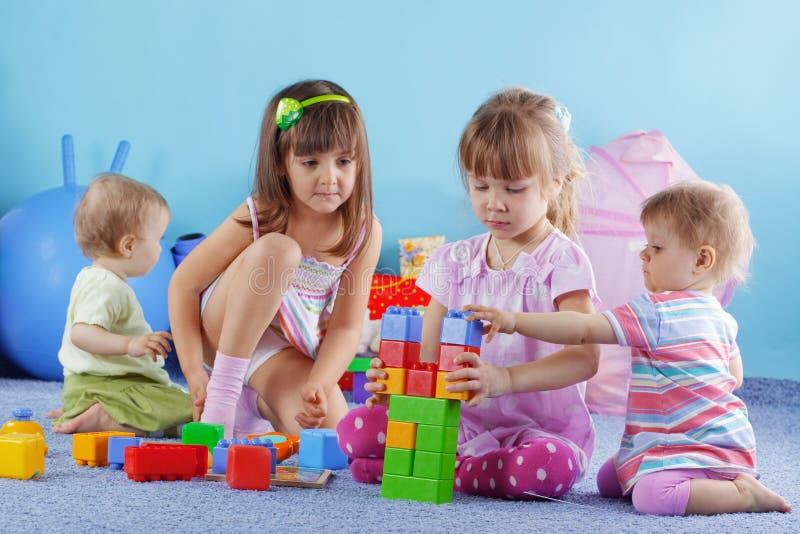 Playing kids royalty free stock photos