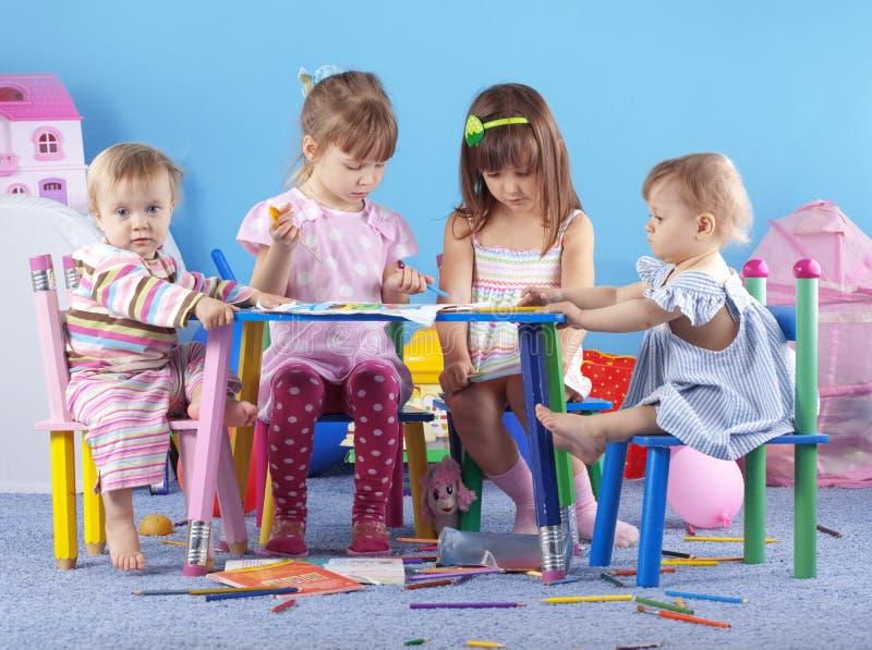 Playing kids royalty free stock photo