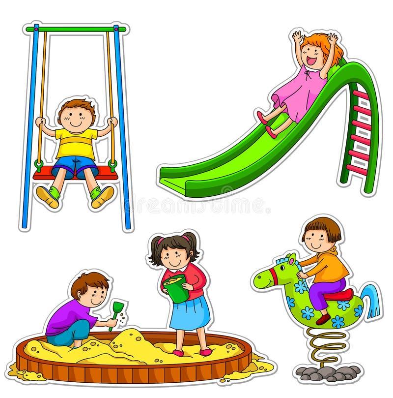Playing kids stock illustration