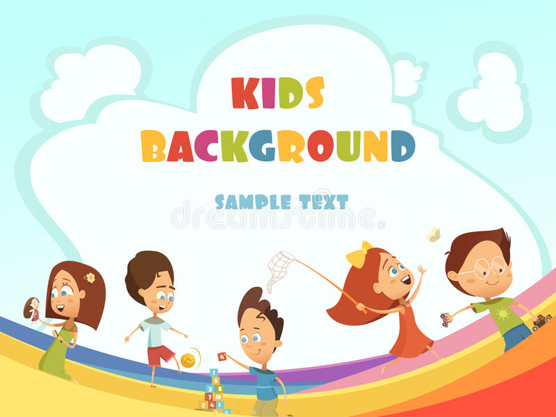 Playing Kids Background royalty free illustration