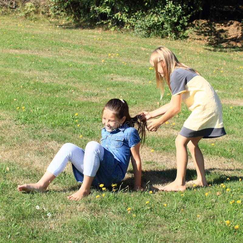 Playing Kids Stock Photo Image Of Dress Child Grass