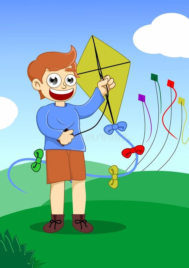 Free Playing Kite Royalty Free Stock Photo - 29096775