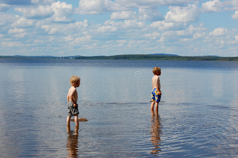 Download Playing In Lake Royalty Free Stock Photography - Image: 23824067