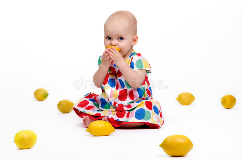 Playing with Lemons stock photo