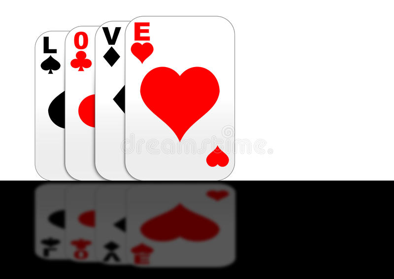 Download Playing With Love Gaming Cards Standing Stock Illustration - Illustration: 12983277