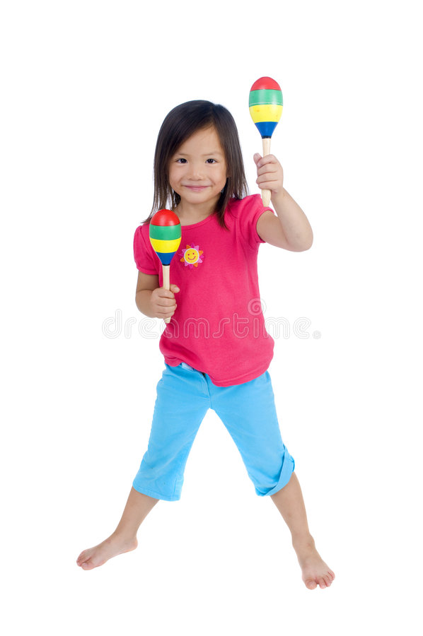 Download Playing Maracas stock photo. Image of childhood, music - 6729522