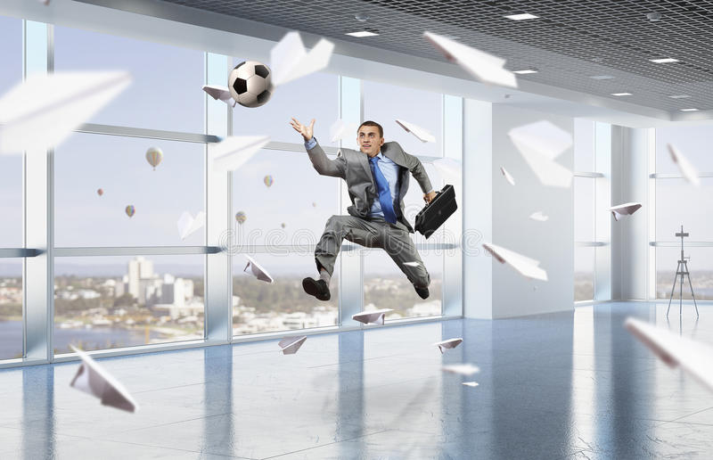 download playing office soccer mixed media stock photo image of corporate businessman