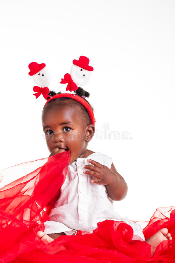 Playing with the organza royalty free stock photos