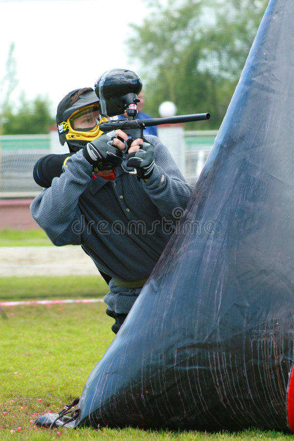 Free Playing Paintball Stock Image - 893841