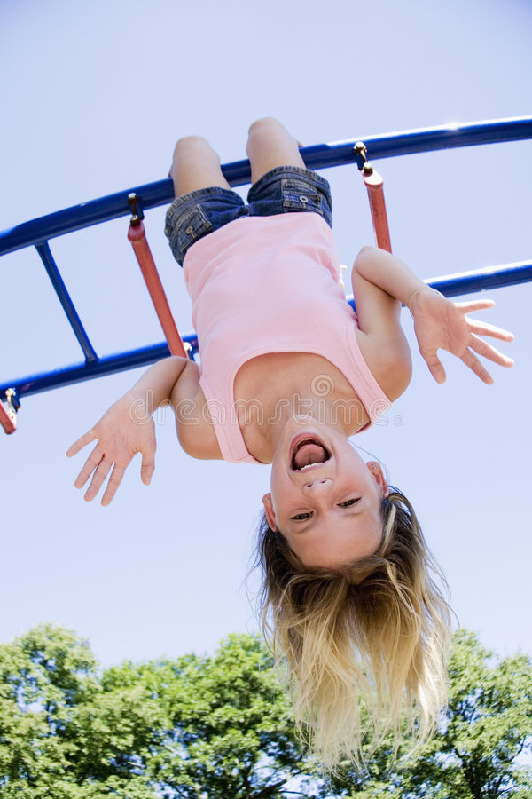 Playing in Park royalty free stock image