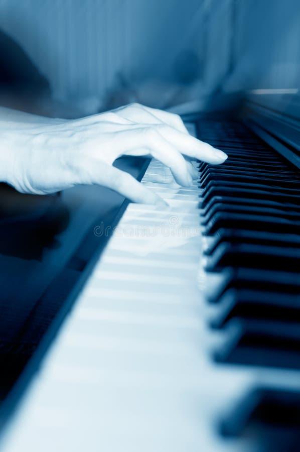 Playing piano. Art, artistic, audio, black stock photography