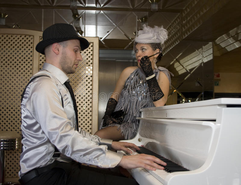 Download Playing the piano stock photo. Image of composition, performing - 15053036