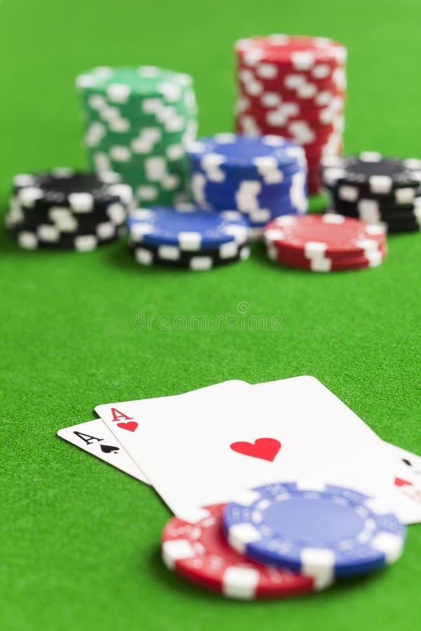 Playing poker stock image