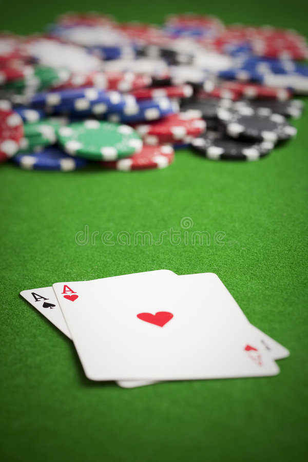 Playing poker stock photography