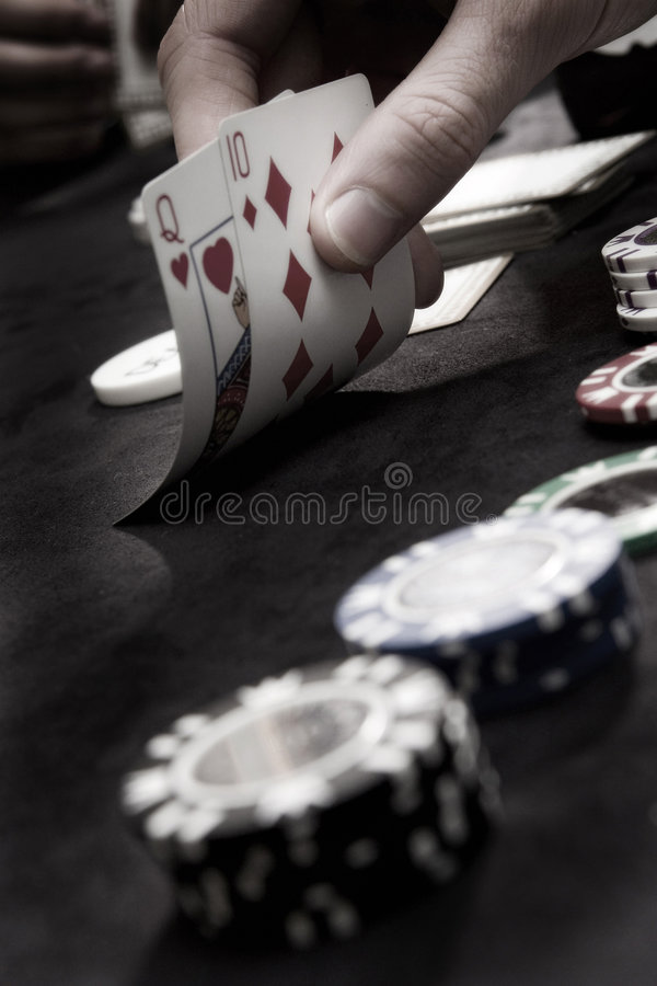 Playing Poker Cards And Chips Royalty Free Stock Images